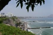 Blick auf die Klippen Miraflores