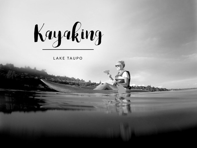Taupo – Now we're driving over the lake, over the lake…